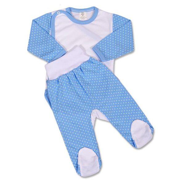 2-dílná souprava New Baby Puntík modrá, vel. 62 (3-6m), Modrá