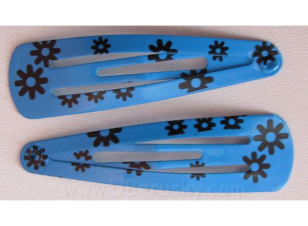 2x prolamovací sponky (K19hc), Modrá