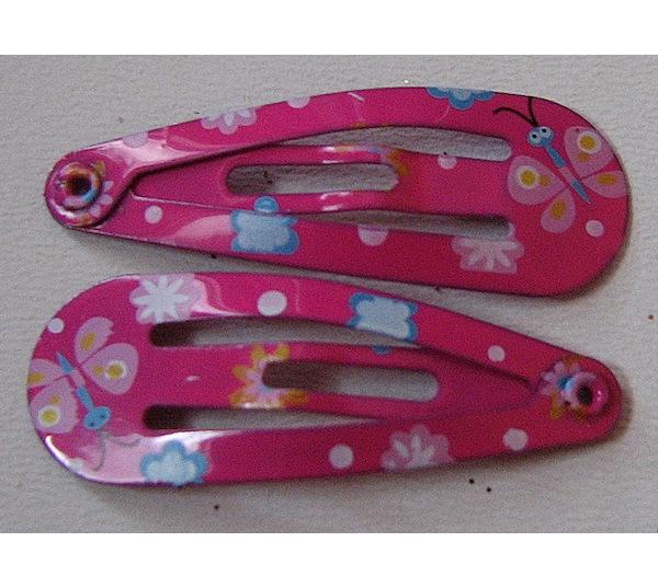 2x prolamovačka motýl mini, tm. růžová