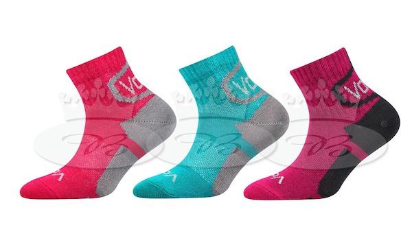 3x dětské ponožky Oskárek Voxx, vel. 35-38, růžovo-tyrkysová