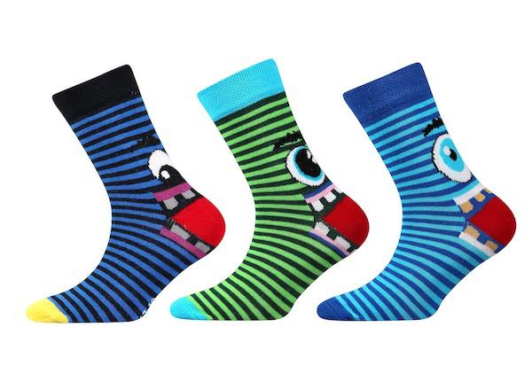 3x dětské ponožky Tlamík (Bo1221), vel. 35-38, barevná