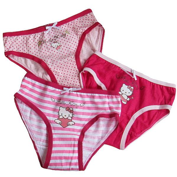 3x dívčí kalhotky Hello Kitty (Ha311), vel. 92-98, Růžová