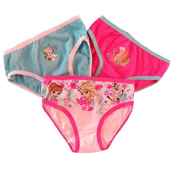 3x kalhotky Frozen (EP3025), vel. 116-128, růžovo-modrá
