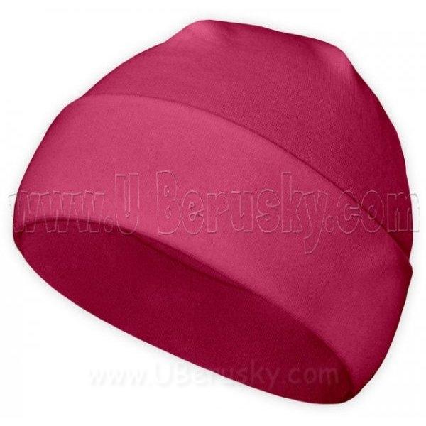 Bavlněná čepice, vel. 92-98, Malinová