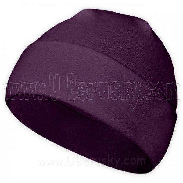 Bavlněná čepice, vel. 116, Fialová