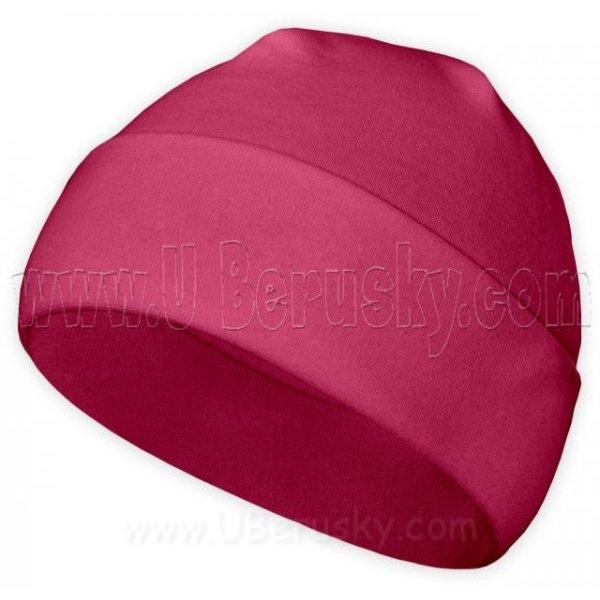 Bavlněná čepice, vel. 116, Malinová