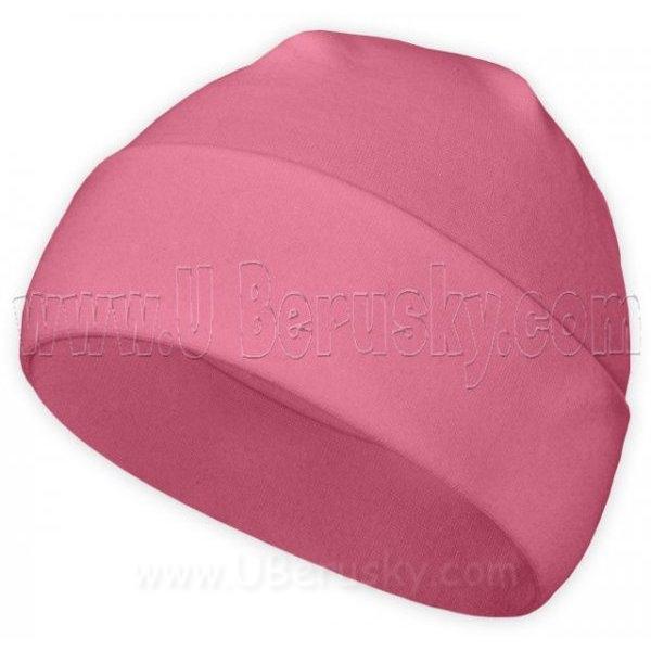 Bavlněná čepice, vel. 116, Růžová