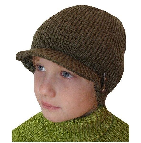 čepice s kšiltem, vel. 104-116, Khaki