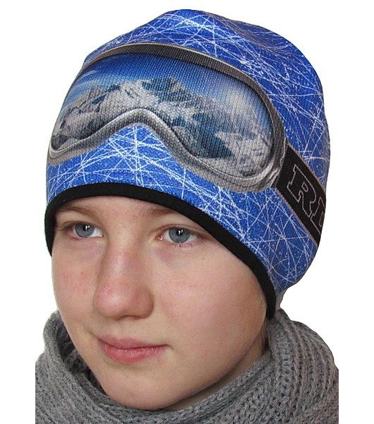Chlapecká, pánská funkční zimní čepice RDX (3560), vel. 164, azurová