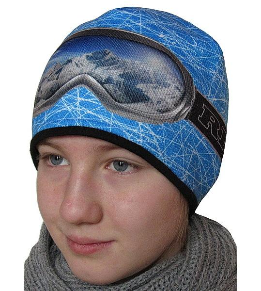 Chlapecká, pánská funkční zimní čepice RDX (3560), vel. 164, sv. modrá