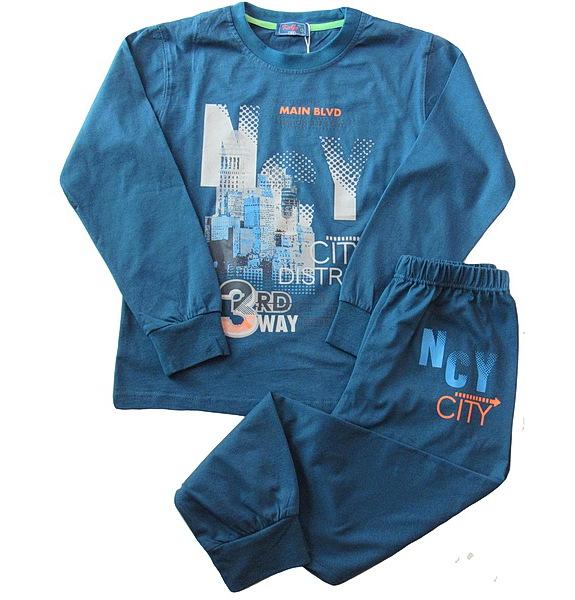 Chlapecké dorostové pyžamo Kugo (T1192), vel. 140, petrolejová