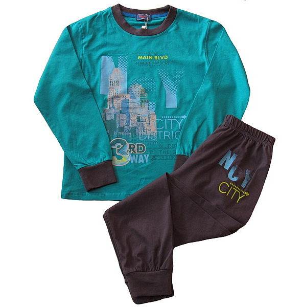 Chlapecké dorostové pyžamo Kugo (T1192), vel. 140, Zelená