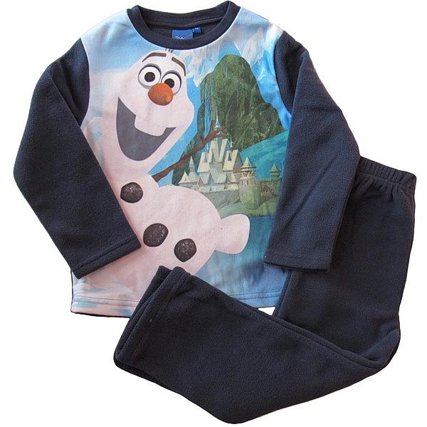 Chlapecké flísové pyžamo (komplet) Olaf, vel. 110, tm. modrá