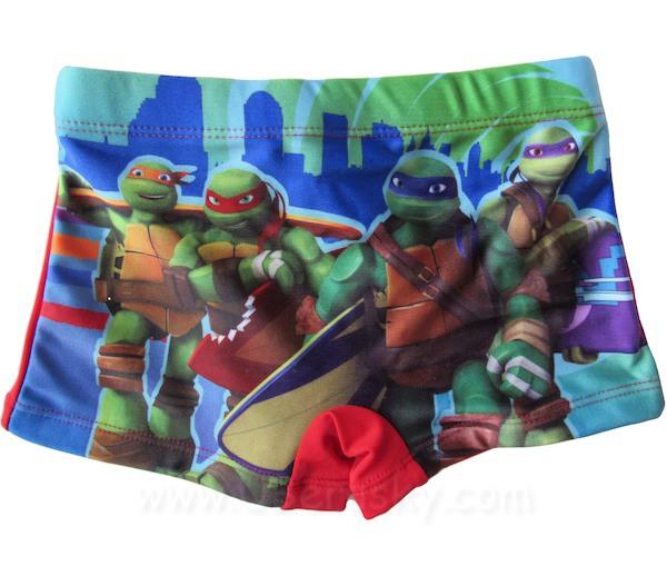 Chlapecké plavky Turtles (910-259), vel. 110, Červená