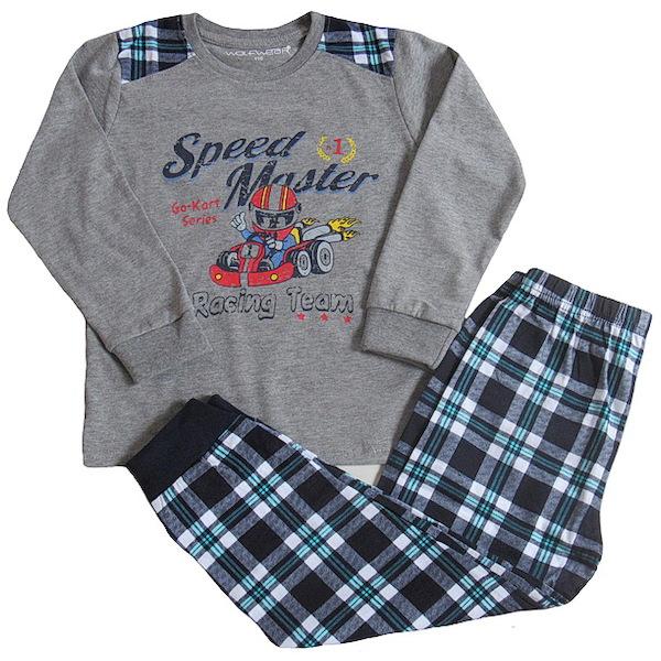 Chlapecké pyžamo Wolf (S2655), vel. 140, šedá