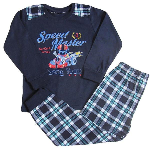 Chlapecké pyžamo Wolf (S2655), vel. 128, tm. modrá