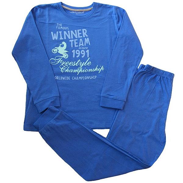 Chlapecké pyžamo Wolf (S2656B), vel. 152, Modrá