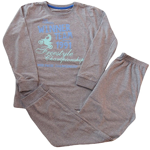 Chlapecké pyžamo Wolf (S2656B), vel. 170, šedá
