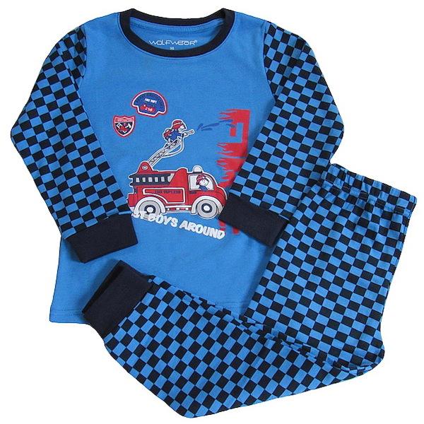 Chlapecké pyžamo Wolf (S2668), vel. 98, Modrá