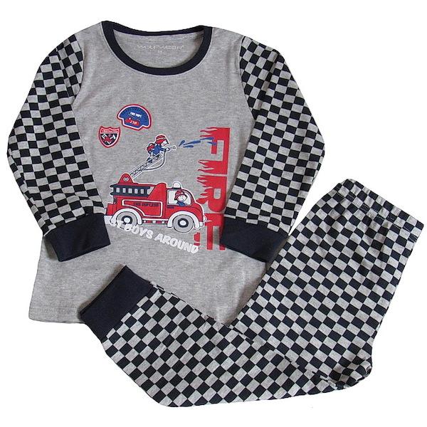 Chlapecké pyžamo Wolf (S2668), vel. 128, šedá