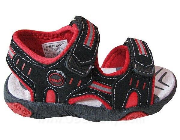 Chlapecké sandále, vel. 25, černo-červená
