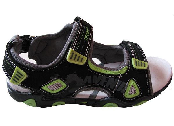 Chlapecké sandále, vel. 27, černo-červená