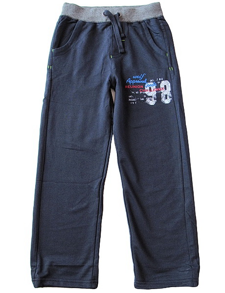 Chlapecké tepláky Wolf (T2683), vel. 140, tm. modrá