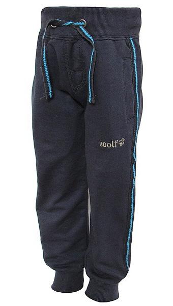 Chlapecké tepláky Wolf (T2777), vel. 116, tm. modrá