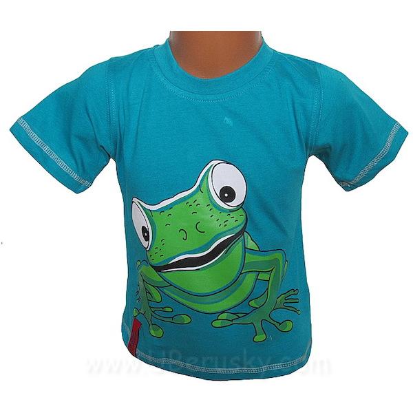 Chlapecké triko Kugo (T2002), vel. 98, petrolejová