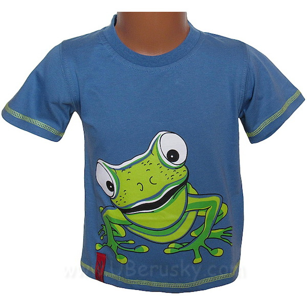 Chlapecké triko Kugo (T2002), vel. 128, Modrá