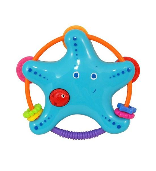 Chrastítko Baby Mix Hvězdička modrá, Modrá