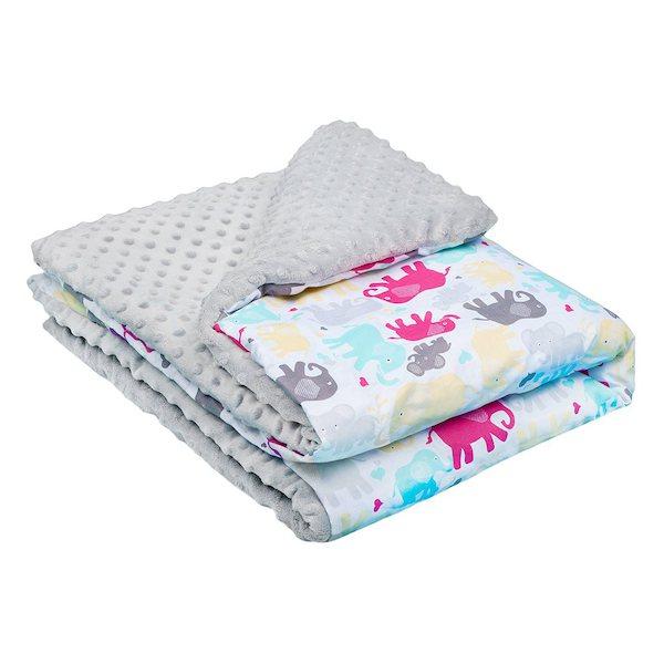 Dětská deka z Minky New Baby bílo-šedá 80x102 cm, šedá