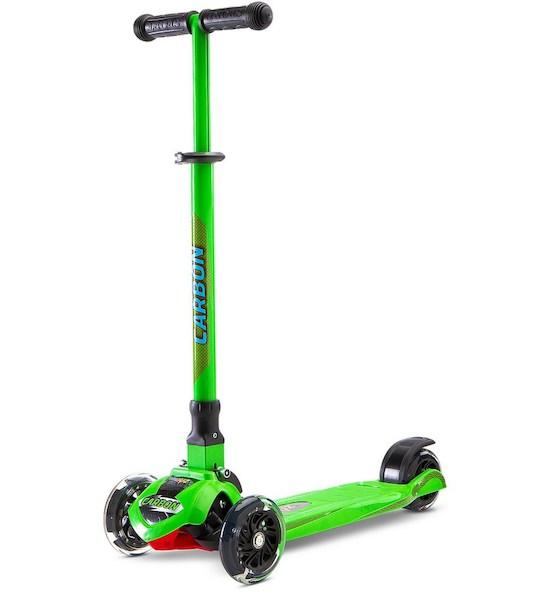 Dětská koloběžka Toyz Carbon green, Zelená