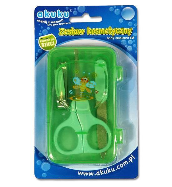 Dětská manikúra Akuku zelená, Zelená
