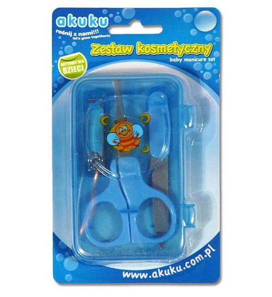 Dětská manikúra Akuku modrá, Modrá