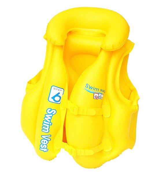 Dětská nafukovací vesta Bestway Typ B 51x46 cm, Žlutá