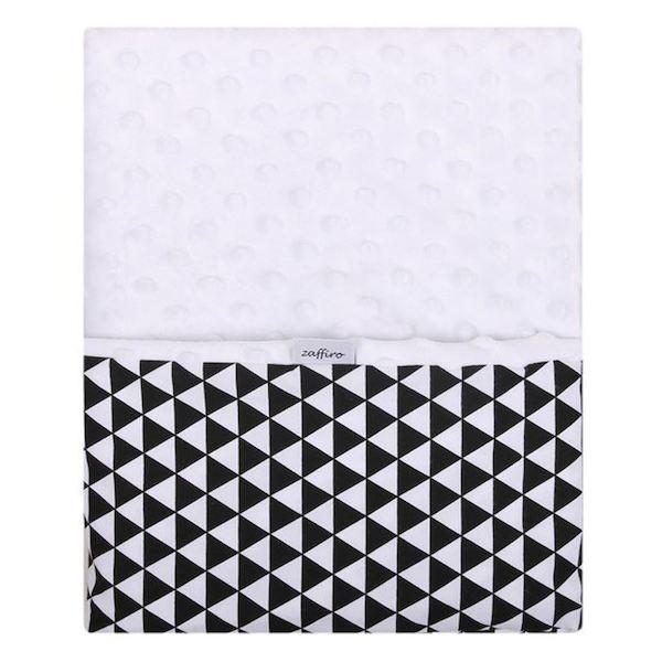 Dětská oboustranná deka z Minky Womar 75x100 černo-bílá, černá