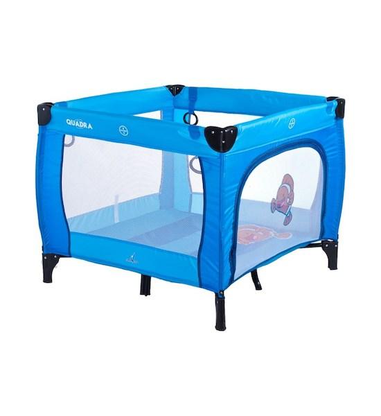 Dětská skládací ohrádka CARETERO Quadra grey, Modrá