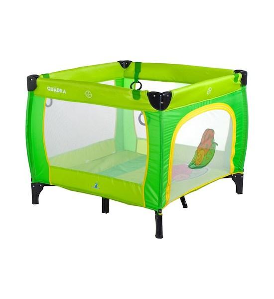 Dětská skládací ohrádka CARETERO Quadra grey, Zelená