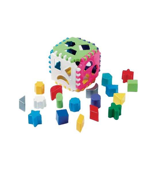 Dětská vkládací kostka, Dle obrázku