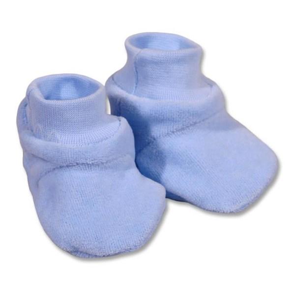 Dětské bačkůrky New Baby žluté, vel. 62 (3-6m), Modrá