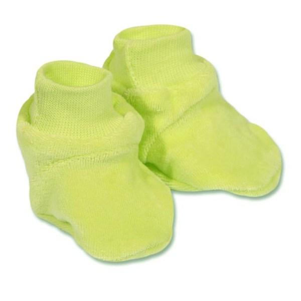 Dětské bačkůrky New Baby žluté, vel. 62 (3-6m), Zelená