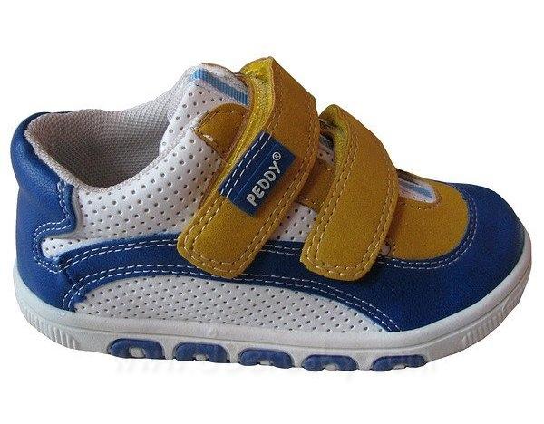 Dětské botasky, vel. 27, modro-bílá