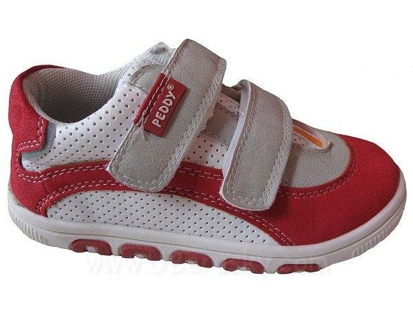 Dětské botasky, vel. 21, červeno-bílá