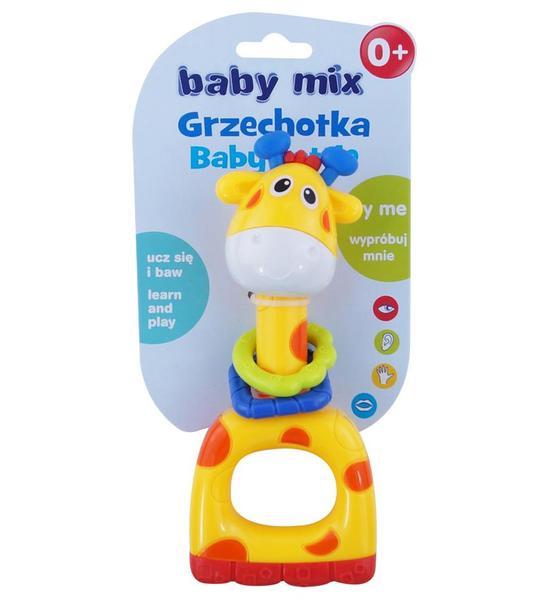 Dětské chrastítko Baby Mix žlutá žirafa, Žlutá