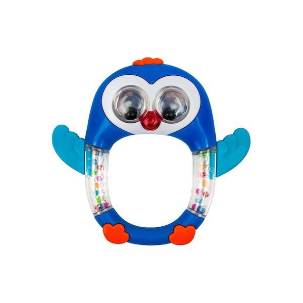 Dětské chrastítko se zvukem Baby Mix Tučňák, Modrá