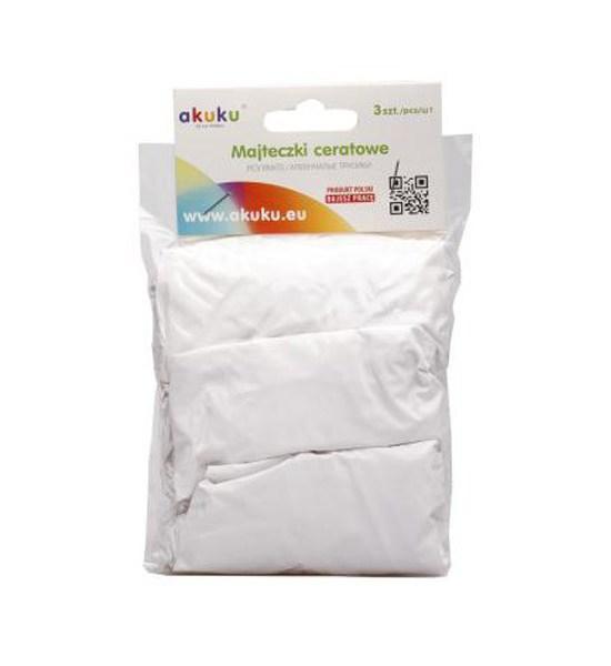 Dětské gumové kalhotky Akuku 3ks, Bílá