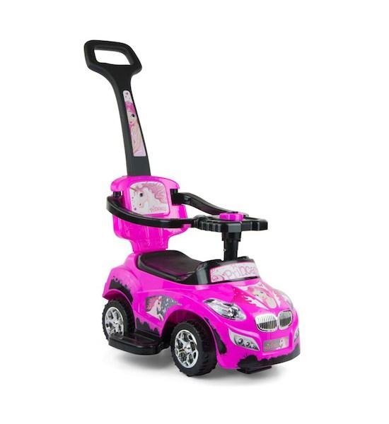 Dětské jezdítko 2v1 Milly Mally Happy pink, Růžová