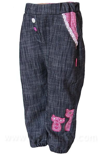Dětské kalhoty Dráče (DR1009), vel. 92, tm. šedá