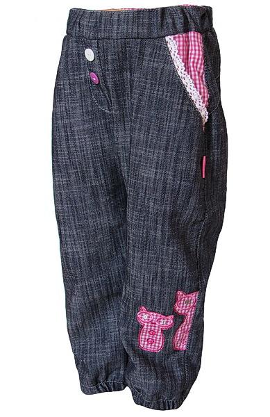 Dětské kalhoty Dráče (DR1009), vel. 110, tm. šedá